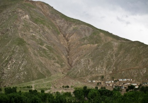 The village Dahan-e-Aab, hit by a debris and mud flow in 2012.
